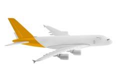 有黄色颜色的飞机 免版税库存图片