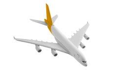 有黄色颜色的飞机 库存照片