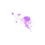 有蝴蝶水彩的神仙现出轮廓象 免版税库存照片