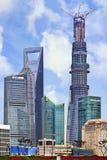 有建设中上海塔的浦东,上海,中国 库存图片