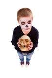有头骨的男孩 库存图片