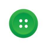 有4个漏洞的一个绿色按钮 向量例证