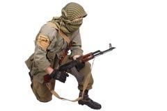 有AK-47的佣工 库存图片