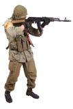 有AK-47的佣工 免版税库存图片
