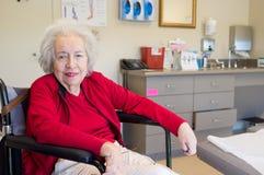 有Alzheimer的年长妇女 库存照片