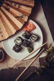 有avokado和鱼子酱的劳斯 库存图片
