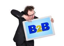 有b2b的片剂 免版税库存照片