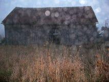 有Bokeh作用的软的外焦点谷仓 库存照片