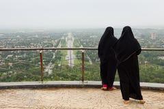 有Burqa的回教妇女 免版税库存图片