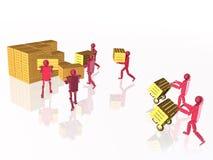有casegoods的红色机器人 免版税库存图片