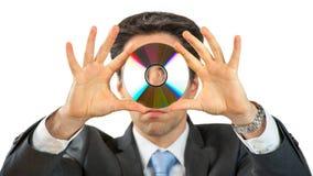 有CD的商人 库存照片