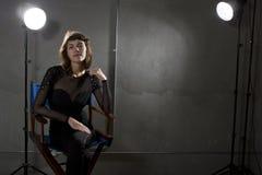 有Copyspace的女演员 免版税库存照片