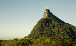 有Corcovado山的全景在里约热内卢,巴西 免版税库存图片