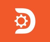 有D构思设计的齿轮 免版税库存照片