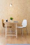 有eco家具的简单的演播室 免版税库存图片