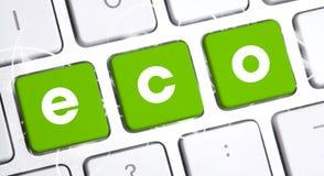 有eco选择的键盘 库存照片