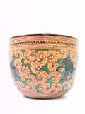 有elaphant图象的一个艺术性的lacquerwear碗 免版税库存照片