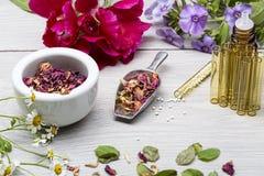有herbals的同种疗法实验室 库存图片