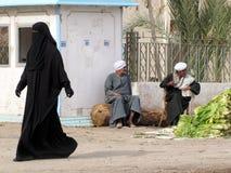 有hijab的妇女 免版税库存图片