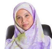 有Hijab的II女性回教专家 免版税库存照片
