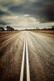 有Instagram作用的乡下公路 免版税库存照片