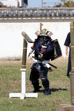 有katana剑的日本武士 库存图片