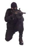 有l85a1步枪的佣工 免版税库存图片