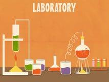 有labware的科学实验室 免版税库存照片