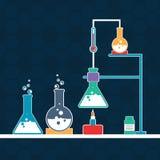 有labware的科学实验室 免版税图库摄影