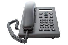有LCD显示的VoIP电话 库存照片