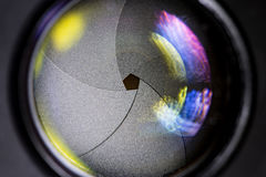 有lense反射的摄象机镜头 免版税库存图片