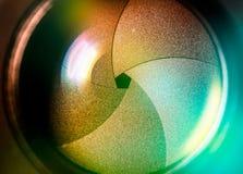 有lense反射的摄象机镜头 库存照片