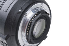 有lense反射的摄象机镜头 SLR单镜头反光照相机的透镜 照相机数字式现代slr 详细的照片  库存照片
