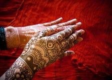 有Mehndi的手 免版税图库摄影