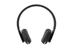 有Mic的耳机在白色 免版税库存照片