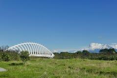 有Mt的塔拉纳基Te Rewa Rewa桥梁 图库摄影