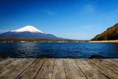 有Mt的山中湖 富士mt视图 免版税图库摄影