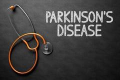 有Parkinsons疾病概念的黑板 3d例证 图库摄影