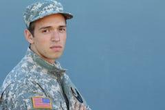 有PTSD的美国战士 库存图片