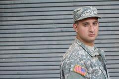 有PTSD的美国战士 免版税图库摄影