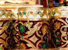 有Rajasthani的艺术品印度美丽的翻转者 免版税库存图片
