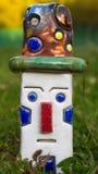 有Raku的陶瓷小丑隔绝了 免版税库存照片