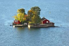 有redl房子的小海岛 图库摄影