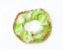 有Ribon的绿色头发Scrunchies 免版税库存图片
