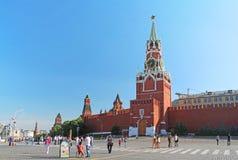 有Spasskaya塔的红场在莫斯科,俄罗斯 库存图片