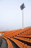 有sportlight的体育场。 免版税库存照片
