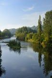 有Usk海岛的河Usk 免版税库存照片