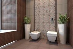 有wc的卫生间 免版税库存图片