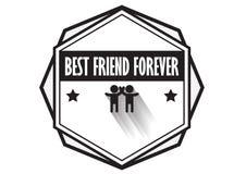 朋友商标徽章设计传染媒介,行家葡萄酒样式 库存图片
