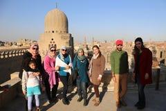 朋友在老开罗,埃及 免版税库存图片